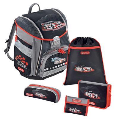 Ранец с наполнением Step by Step Touch Racer 20 л серый черный 129587