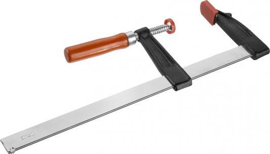 Струбцина Зубр Стандарт тип F деревянная ручка стальная закаленная рейка 80х300мм 32152-80-300