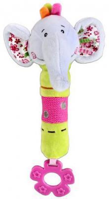 Пищалка-прорезыватель Жирафики Слонёнок Тим разноцветный с 3 месяцев пищалка пищалка с погремушками жирафики слонёнок тим с 1 месяца пищалка разноцветный 93568