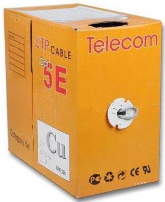 Кабель UTP 4 пары категория 5E Telecom UTP4-TC1000C5EP-CU-IS 305м