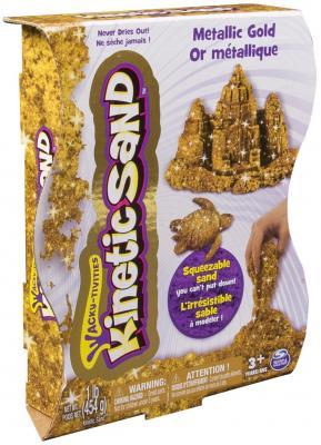 Песок для лепки Kinetic sand, металлик, 455гр, цвет золотой