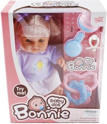 Кукла Shantou Gepai Bonnie в сиреневой кофточке, с аксессуарами со звуком