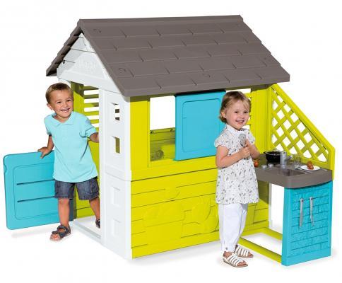 Игровой домик Smoby Домик с кухней домик игровой smoby с кухней красный 145 110 127см 1 1 810702