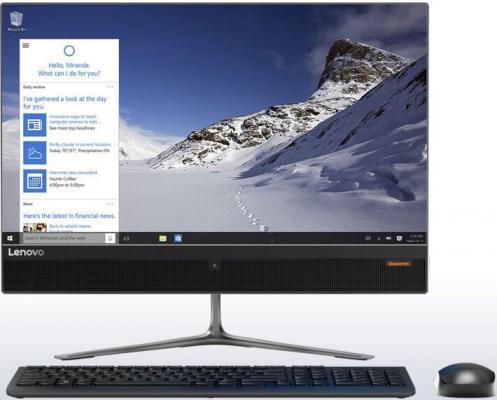 """Моноблок Lenovo IdeaCentre 510-23ISH 23"""" Full HD P G4560T/4Gb/500Gb 7.2k/DVDRW/Free DOS/GbitEth/WiFi/BT/клавиатура/мышь/Cam/черный 1920x1080"""