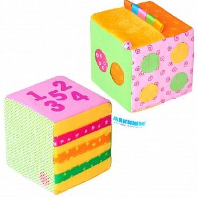 Развивающая игрушка МЯКИШИ Математический кубик 333 мякиши кубик лиса