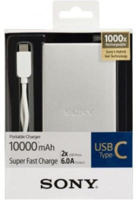 Портативное зарядное устройство Sony CP-SC10S 10000мАч серебристый от 123.ru