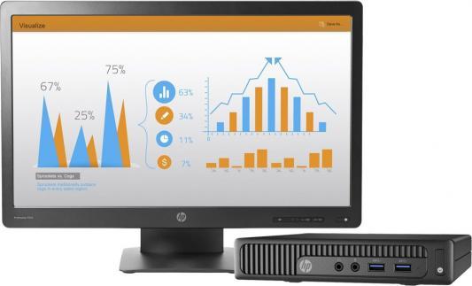 "Компьютер 23"" HP 260 G2 DM 1920 x 1080 Intel Core i5-6200U 4Gb SSD 256 Intel HD Graphics 520 Windows 10 Professional черный 1QM10ES"