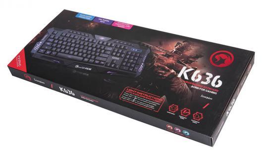 Клавиатура проводная Marvo K636 USB черный от 123.ru