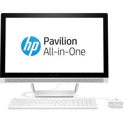 "Моноблок 23.8"" HP 24-b210ur 1920 x 1080 Intel Pentium-G4560T 4Gb 1Tb Intel HD Graphics 620 Windows 10 Home белый 1AW62EA"