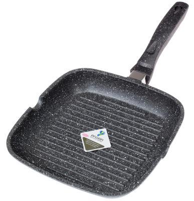 Сковорода-гриль Supra Tedory SAD-T2828G прямоугольная ручка несъемная (без крышки) темно-серый (SAD-T2828G MARBLE) от 123.ru