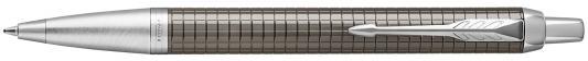Шариковая ручка автоматическая Parker IM Premium K322 Dark Espresso CT синий M 1931683 parker ручка роллер im premium dark espresso ciselled ct