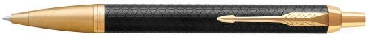 Шариковая ручка автоматическая Parker IM Premium K323 Black GT синий M 1931667