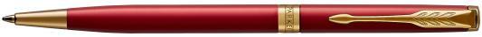 Шариковая ручка поворотная Parker Sonnet Core K439 Slim LaqRed GT черный M 1931477 шариковая ручка поворотная parker sonnet premium k540 pearl pgt черный m 1931555