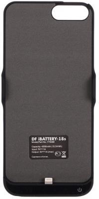 Фото Чехол-аккумулятор DF iBattery-18s для iPhone 6S Plus iPhone 7 Plus iPhone 6 Plus чёрный чехол аккумулятор df ibattery 14s для iphone 6 6s 7 розовое золото