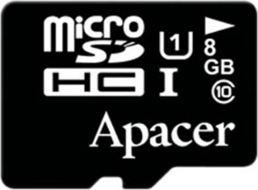 Карта памяти Micro SDHC 8GB Class 10 Apacer AP8GMCSH10U1-RA apacer sdhc 32gb class 4