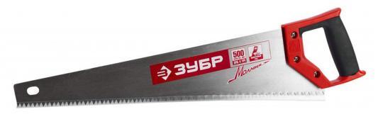 Ножовка Зубр Мастер Молния по дереву крупный зуб двухкомпонентная ручка 15075-50_z01 ножовка по дереву stanley 450 мм крупный зуб