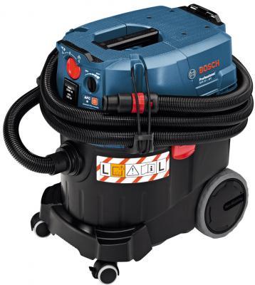 Промышленный пылесос Bosch GAS 35 L AFC сухая влажная уборка чёрный синий промышленный пылесос dewalt dwv 901 l сухая уборка чёрный жёлтый