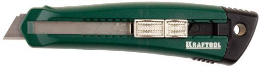 Нож Kraftool с сегментированным лезвием 18мм 09195_z01 нож solingen с 3 лезвиями 18мм kraftool 09195 z01