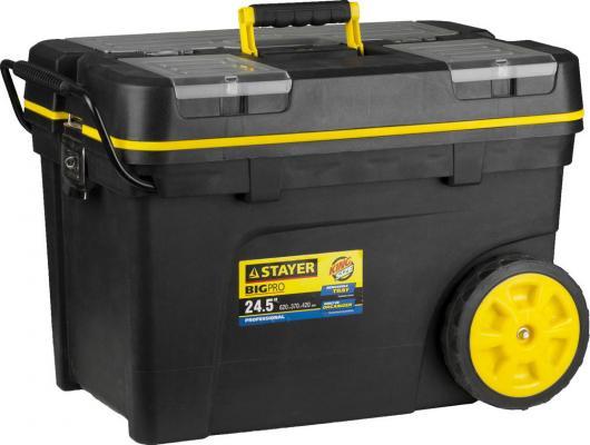 Ящик-тележка для инструмента Stayer Professional 24.5 пластиковый 38107-24 ящик для инструмента stayer standard vega 12 пластиковый с органайзерами 38105 13 z02