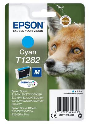 Картридж Epson C13T12824012 для Epson S22/SX125 голубой принтер струйный epson l312