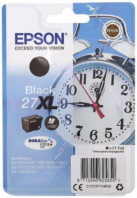 Картридж Epson C13T27114022 для Epson WF7110/7610/7620 черный 1100стр