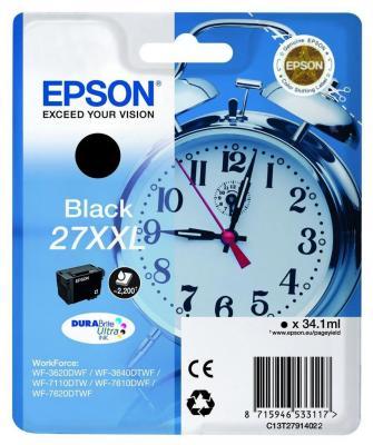 Картридж Epson C13T27914022 для Epson WF7110/7610/7620 черный 2200стр