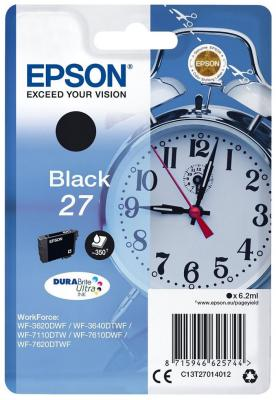 Картридж Epson C13T27014022 для Epson WF7110/7610/7620 черный 350стр