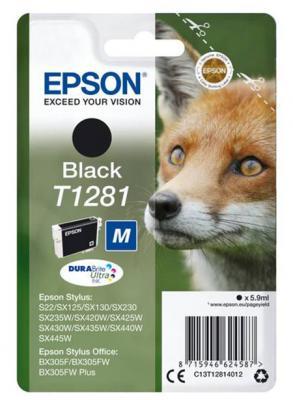 Картридж Epson C13T12814012 для Epson S22/SX125 черный картридж epson t009402 для epson st photo 900 1270 1290 color 2 pack