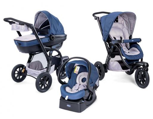 Коляска 3-в-1 Chicco Trio Activ3 (blue passion)