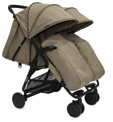 Прогулочная коляска для двоих детей Cozy Smart (dark sand melange) коляска прогулочная hauck swift melange beige caviar