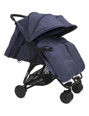Прогулочная коляска для двоих детей Cozy Smart (navy melange)
