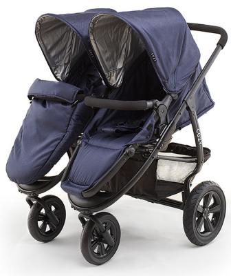 Прогулочная коляска для двоих детей Cozy Dou (navy)