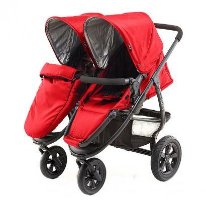 Прогулочная коляска для двоих детей Cozy Dou (red)