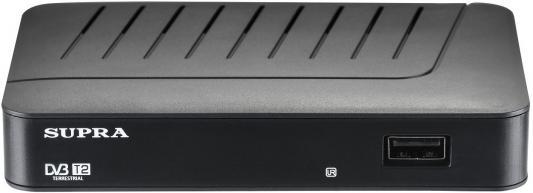 Тюнер цифровой Supra SDT-77 черный телефон supra stl 111 белый