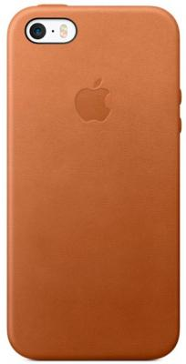 Накладка Apple Leather Case для iPhone 5 iPhone 5S iPhone SE коричневый MNYW2ZM/A стоимость