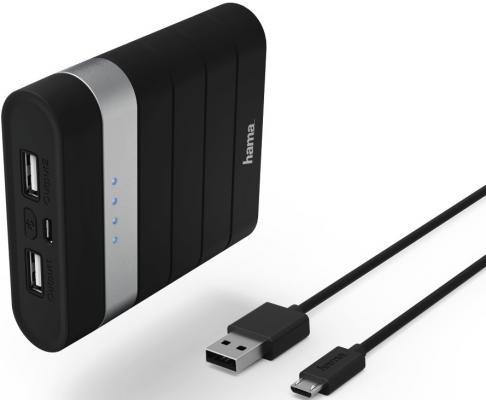 лучшая цена Портативное зарядное устройство Hama Joy Li-Ion 10400мАч черный 00137493