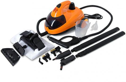 Пароочиститель KITFORT КТ-908-3 1500Вт оранжевый чёрный от 123.ru
