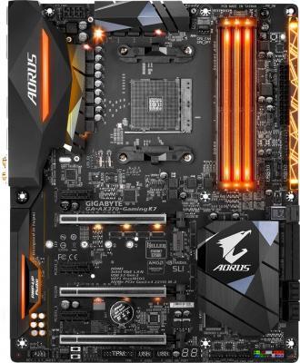 Мат. плата для ПК GigaByte GA-AX370-Gaming K7 Socket AM4 AMD X370 4xDDR4 3xPCI-E 16x 3xPCI-E 1x 8xSA