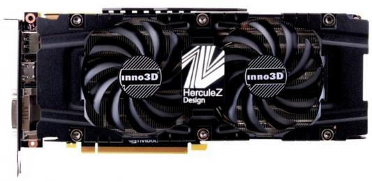 Видеокарта 11264Mb  Inno3D GeForce GTX 1080 Ti Twin X2 PCI-E 352bit GDDR5X DVI HDMI DP HDCP N108T-1SDN-Q6MN Retail видеокарта asus geforce gtx 1060 1620mhz pci e 3 0 6144mb 8208mhz 192 bit dvi hdmi hdcp rog strix gtx1060 o6g gaming
