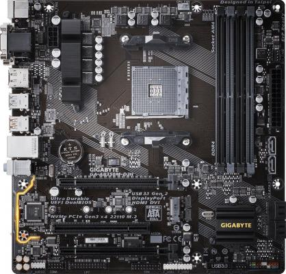 Мат. плата для ПК GigaByte GA-AB350M-D3H Socket AM4 AMD B350 4xDDR4 2xPCI-E 16x 1xPCI 6xSATAIII mATX