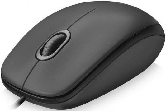 Мышь проводная Logitech M100 серый USB 910-005003