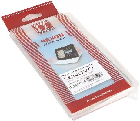 Чехол IT BAGGAGE для планшета Lenovo Tab 3 Plus TB-7703X прозрачный  ITLNPH77-0 от 123.ru
