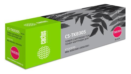 Картридж Cactus CS-TK8305 для Kyocera Mita 3050/3051/3550/3551 черный 25000стр