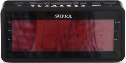 Часы с радиоприёмником Supra SA-46FM чёрный