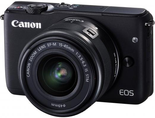 "Фотоаппарат Canon EOS M10 18Mpix 3"" 1080p WiFi 18-45IS STM LP-E12 черный 0584C012"