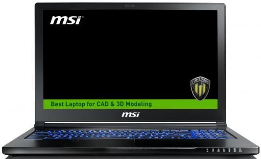 Ноутбук MSI WS63 7RK-429RU 15.6 1920x1080 Intel Core i7-7700HQ ноутбук msi ws63 7rk 413ru core i7 7700hq 32gb 1tb 256gb ssd nv p3000 6gb 15 6 uhd win10pro black