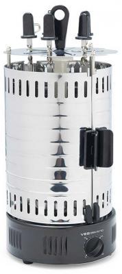 Электрошашлычница VES Electric G111 серебристый серый
