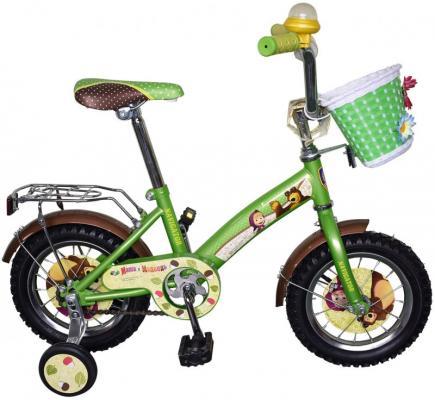 """Велосипед Навигатор Маша и Медведь ВН12101К 12"""" зелено-черный"""