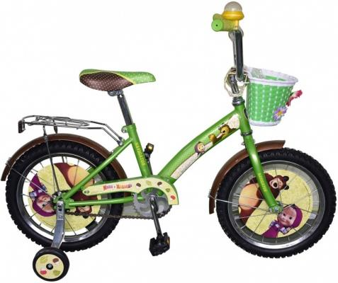 """Велосипед Navigator Маша и Медведь 16"""" зеленый ВН16115К"""