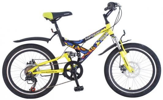 "Велосипед Top Gear Hooligan 225 20"" желтый"